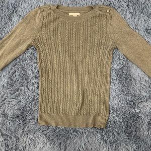 Banana Republic Cotton Mix Gray Pullover Sweater S